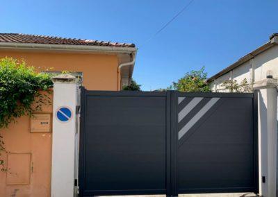 Portail et portillon en aluminium à Tarbes