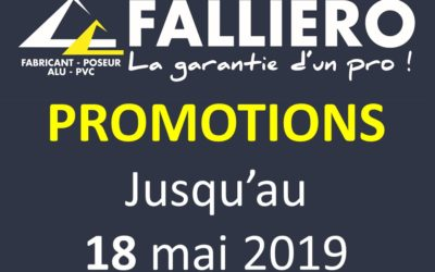 PROMOTIONS jusqu'au 18 mai 2018