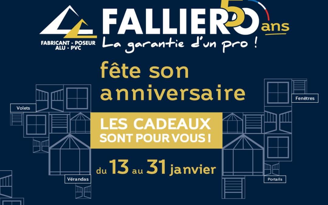 FALLIERO fête son anniversaire, les cadeaux sont pour vous !